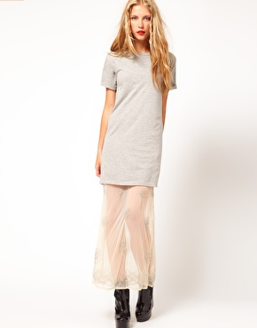 asos grey tshirt dress