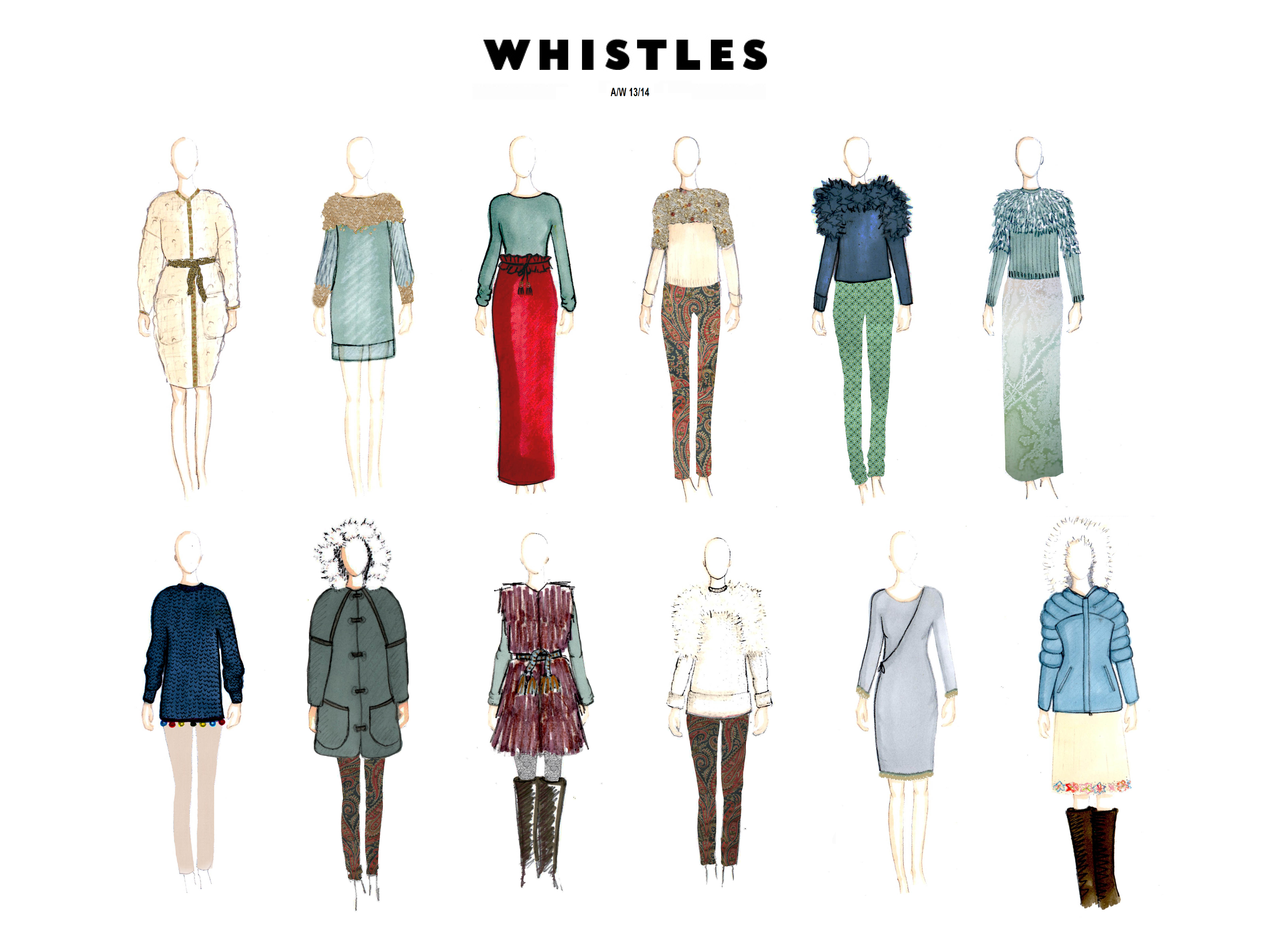 Whistles collection board