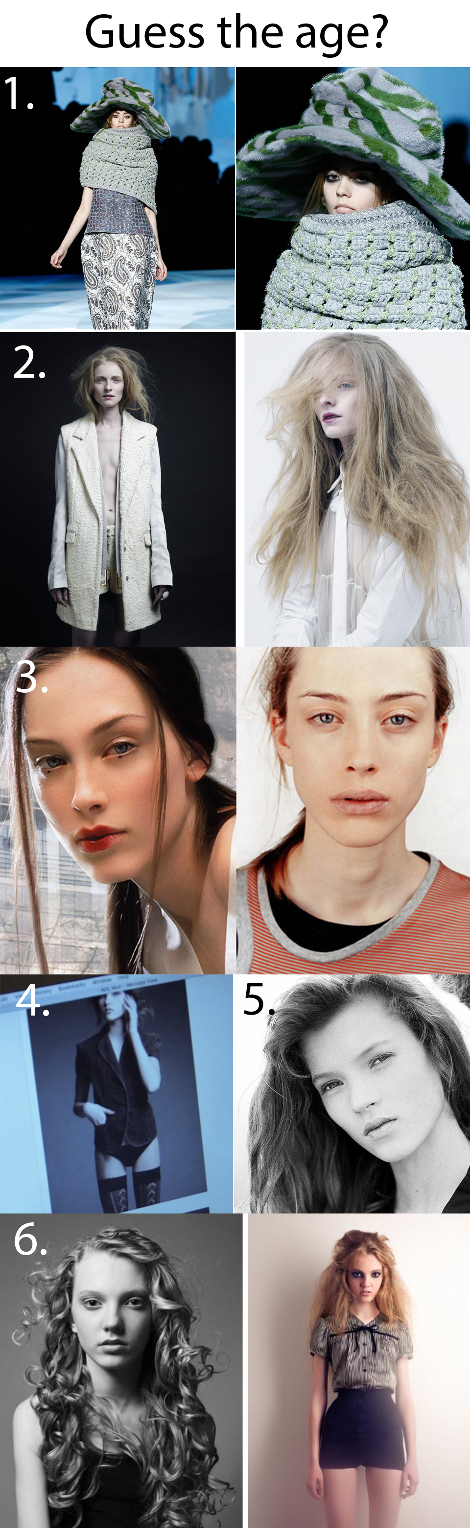 Guess the age of the models